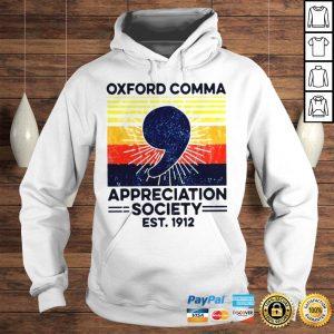 Oxford Comma Appreciation Society Est 2912 Vintage Shirt Hoodie