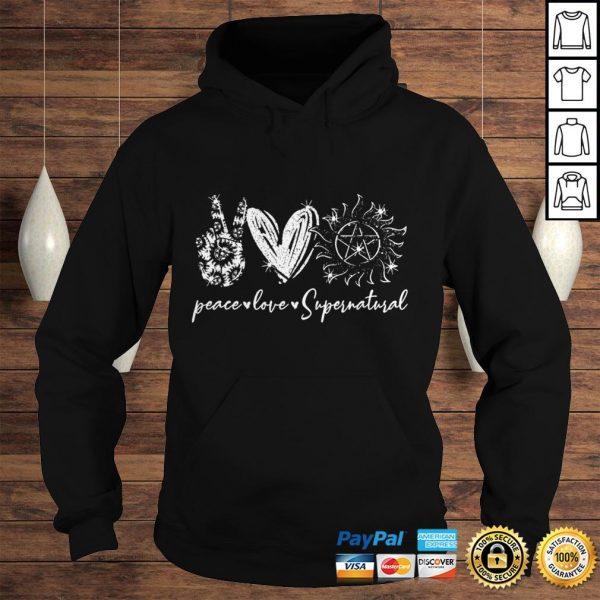 Peace love supernatural shirt Hoodie