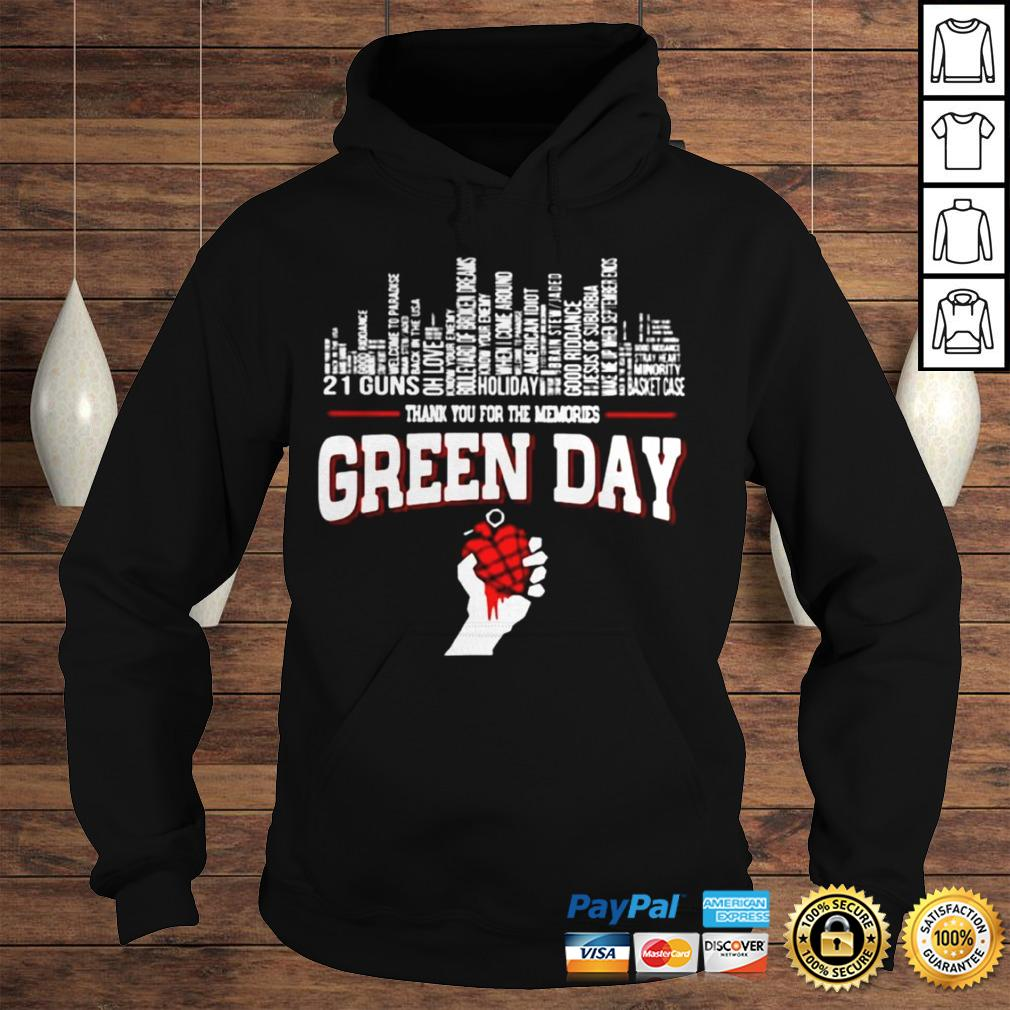 Thank you for the memories Green Day city songs shirt Hoodie