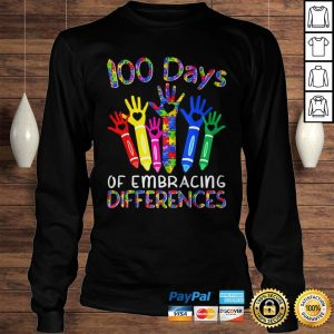 100 Days Of Embracing Differences IEP 100th Day Of School TShirt Longsleeve Tee Unisex