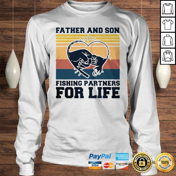 Father and son fishing partners for life hand heart vintage shirt Longsleeve Tee Unisex