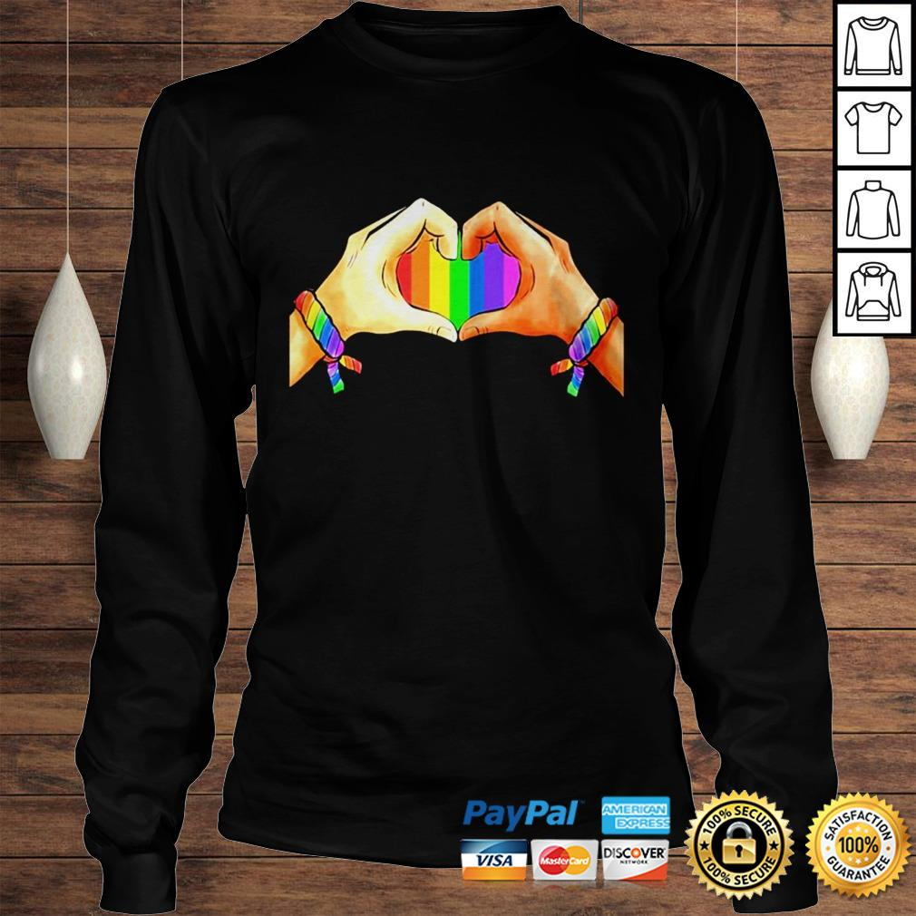 Hand language heart Rainbow shirt Longsleeve Tee Unisex