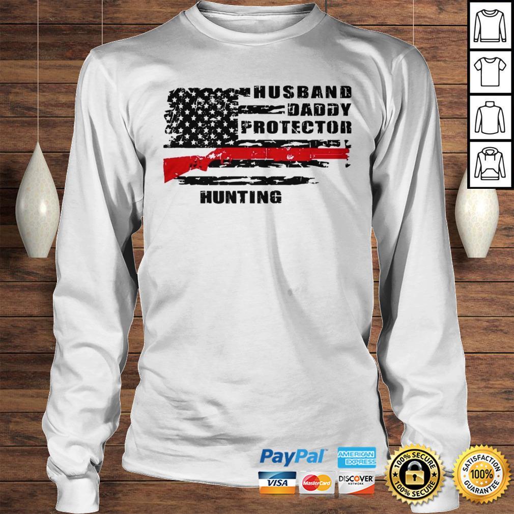 Husband daddy protector hunting shirt Longsleeve Tee Unisex
