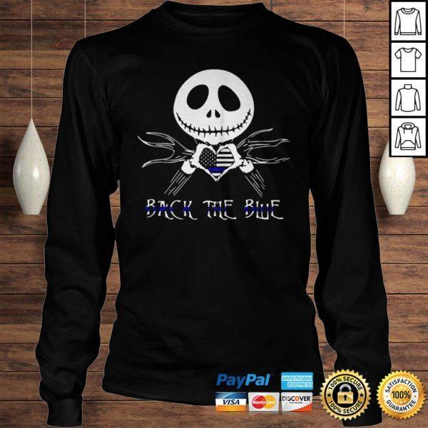 Jack Skellington Back The Blue American Flag Shirt