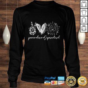 Peace love supernatural shirt Longsleeve Tee Unisex