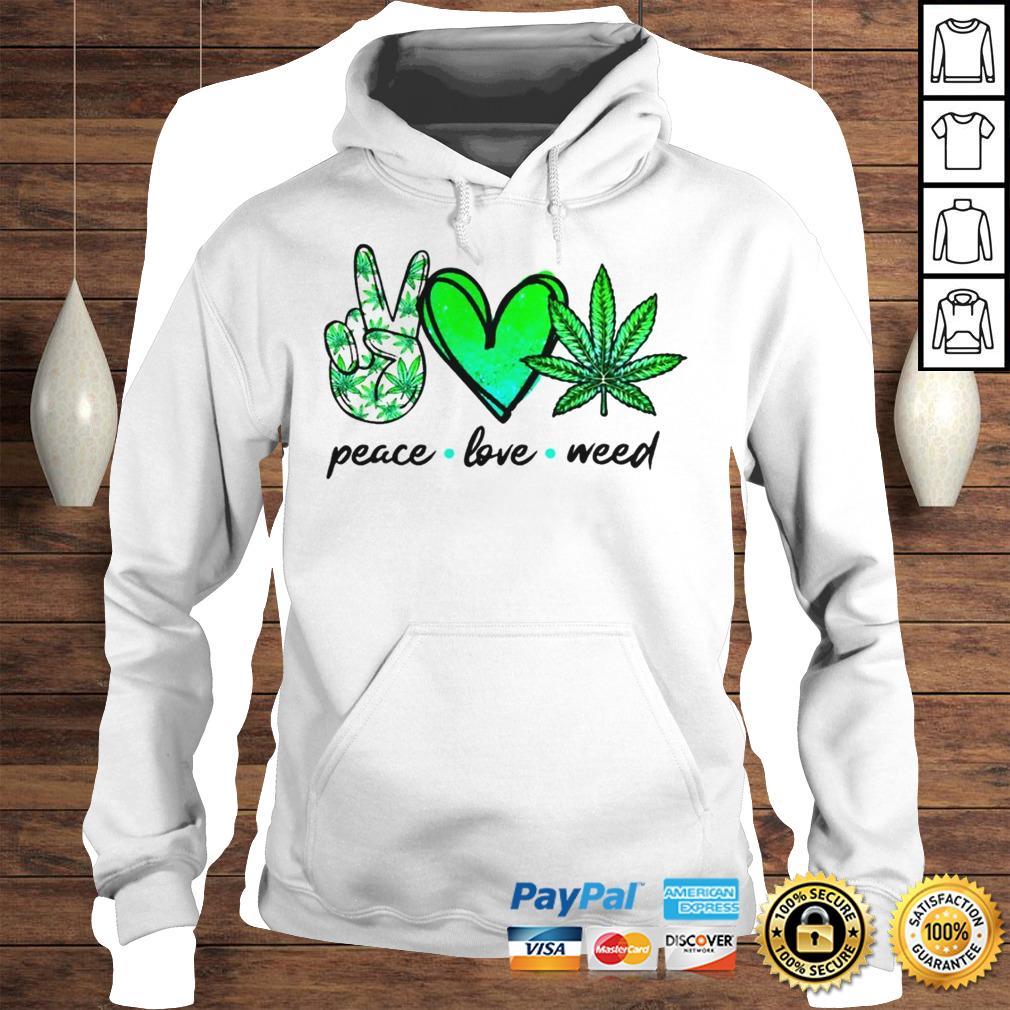 Peace love weed shirt Longsleeve Tee Unisex