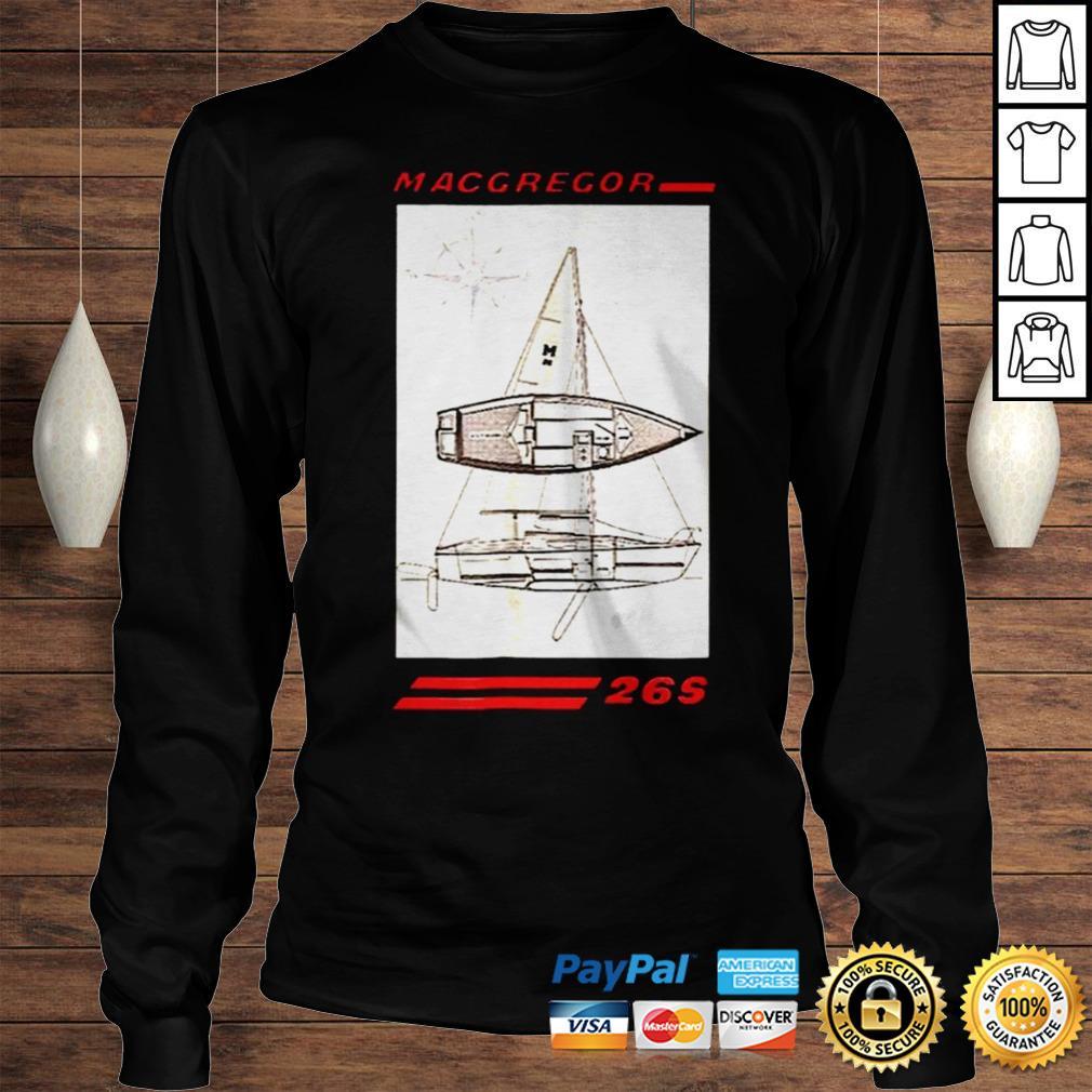 Sailboat line drawing macgregor 26s shirt Longsleeve Tee Unisex
