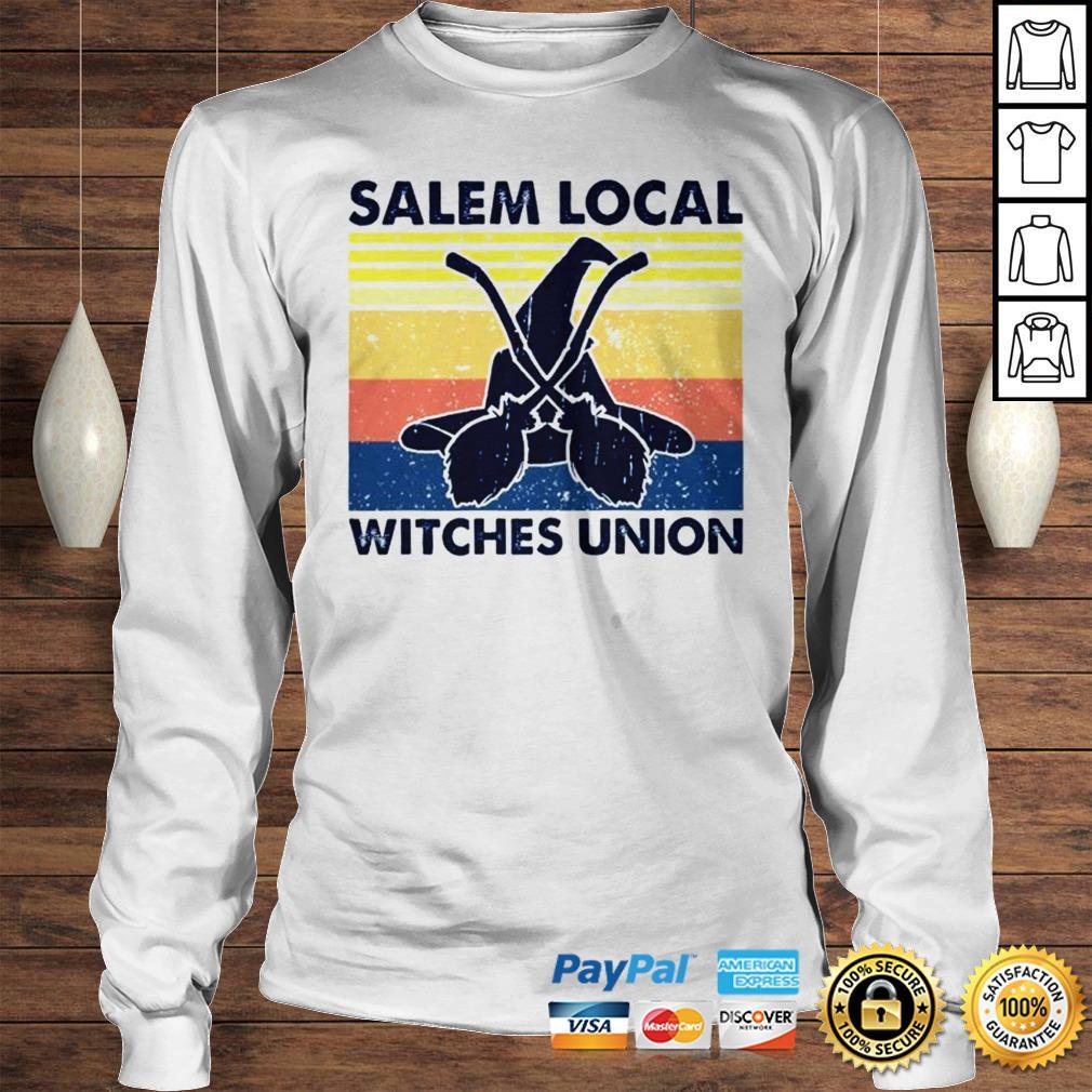 Salem local witches union vintage shirt Longsleeve Tee Unisex