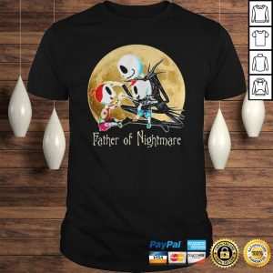 Jack skellington father of nightmare happy fathers day shirt