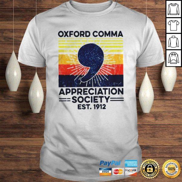 Oxford Comma Appreciation Society Est 2912 Vintage Shirt Shirt