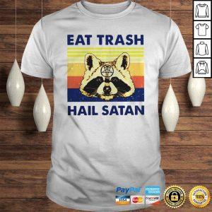 Raccoon Eat Trash Hail Satan Vintage TShirt Shirt