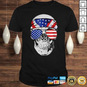 Skull American Flag Happy Independence Day Shirt Shirt