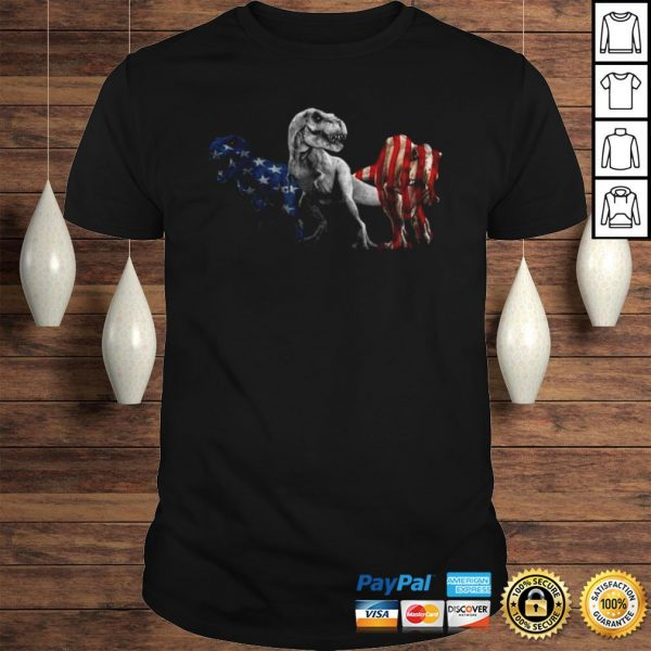 Trex Dinosaur American Flag 4th Of July Shirt Shirt