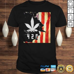 Weed 420 american flag independence day shirt Shirt