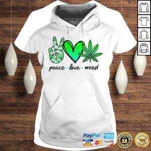 Peace love weed shirt Ladies V-Neck