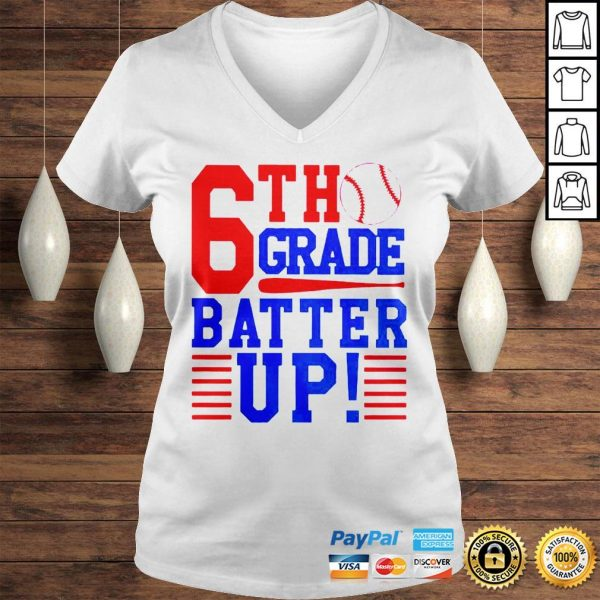 Tennis 6th Grade Batter Up Shirt Ladies V-Neck