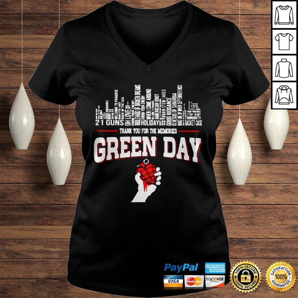 Thank you for the memories Green Day city songs shirt Ladies V-Neck
