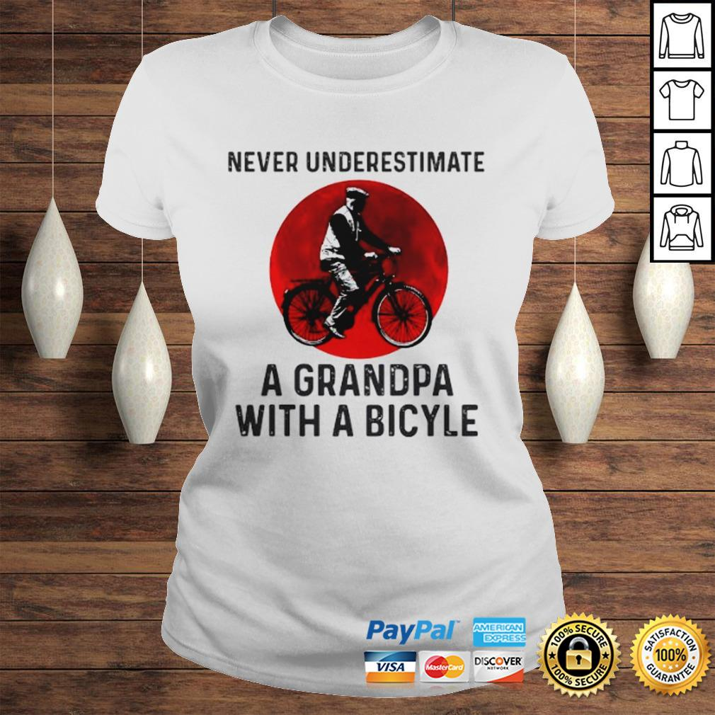 Never Underestimate A Grandma With A Bicycle Shirt Classic Ladies Tee