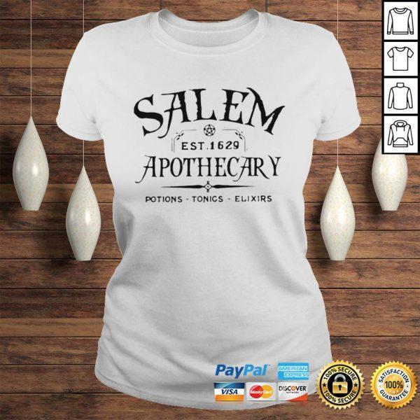Salem EST 1629 Apothecary Potions Tonics Elixirs Hoodie Classic Ladies Tee