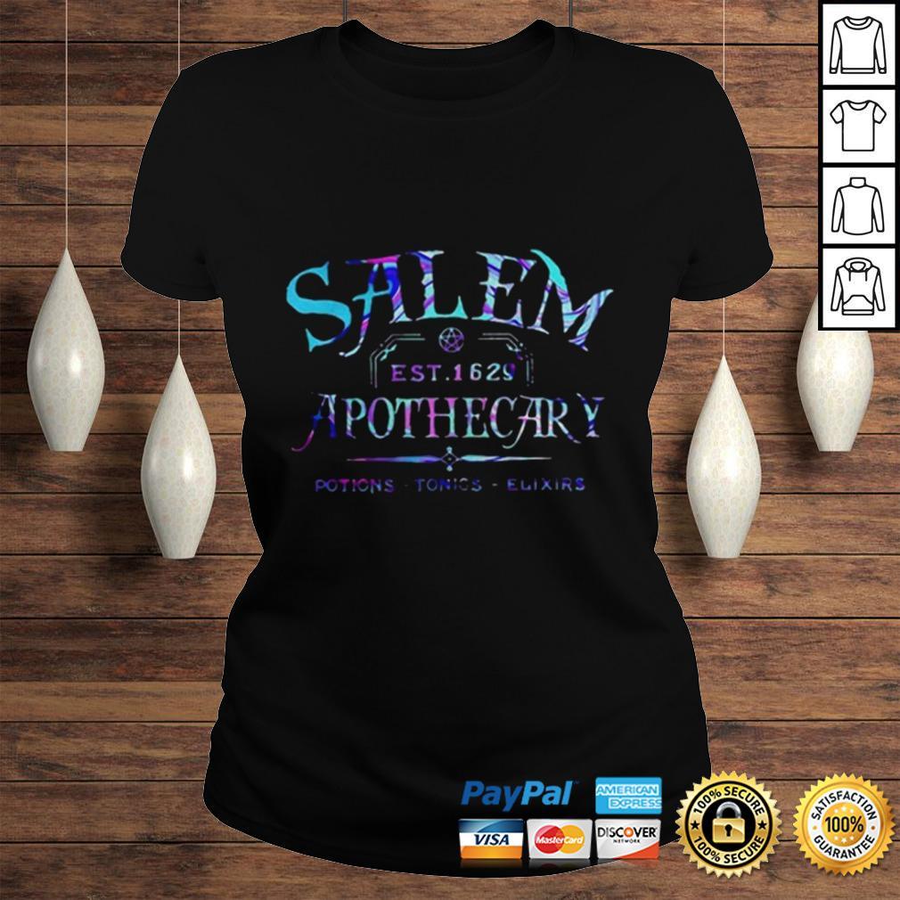 Salem est 1629 apothecary potions tonics elixirs color shirt Classic Ladies Tee