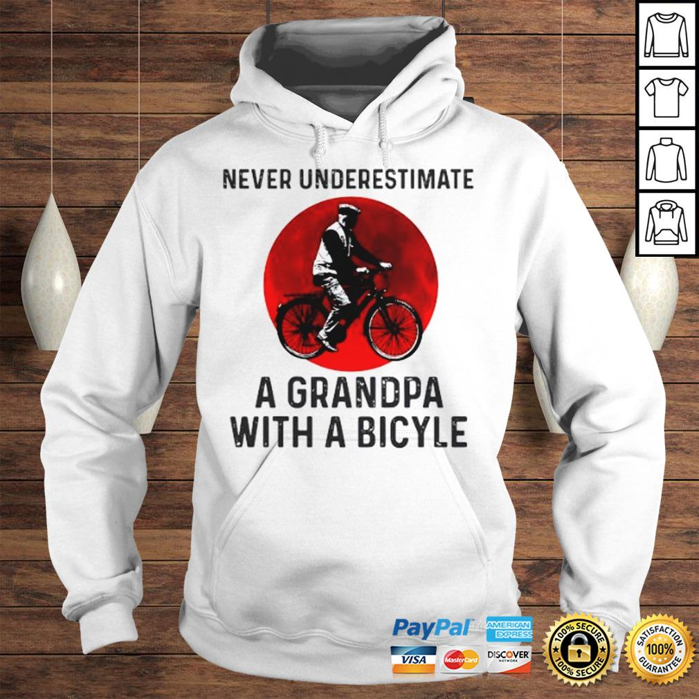 Never Underestimate A Grandma With A Bicycle Shirt Hoodie