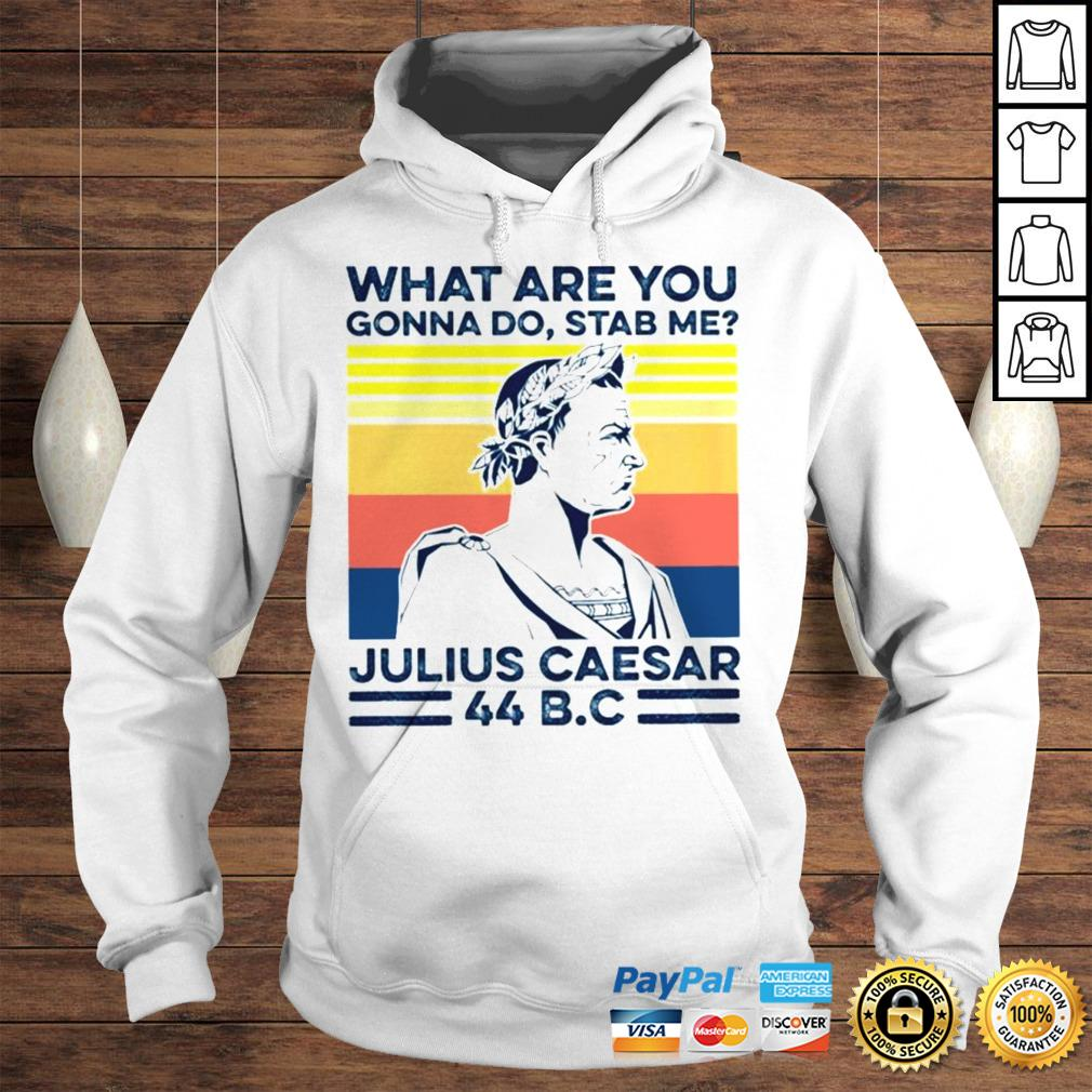 What are you gonna do stab me Julius Caesar vintage shirt Hoodie