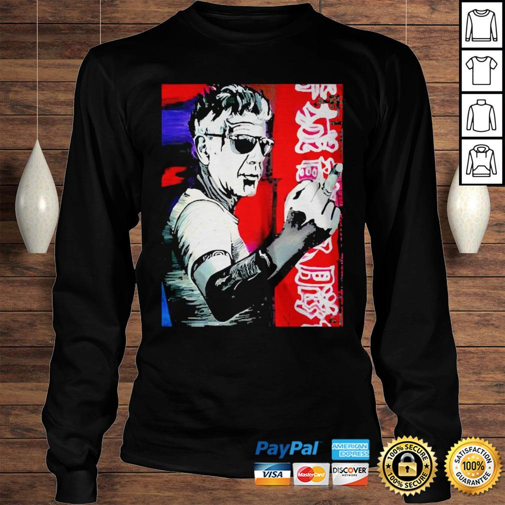 Anthony bourdain fuck middle finger shirt Longsleeve Tee Unisex