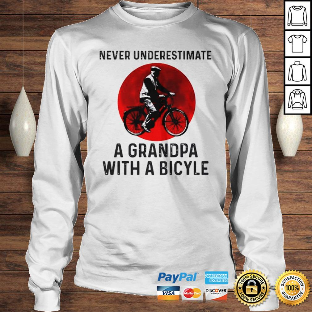 Never Underestimate A Grandma With A Bicycle Shirt Longsleeve Tee Unisex