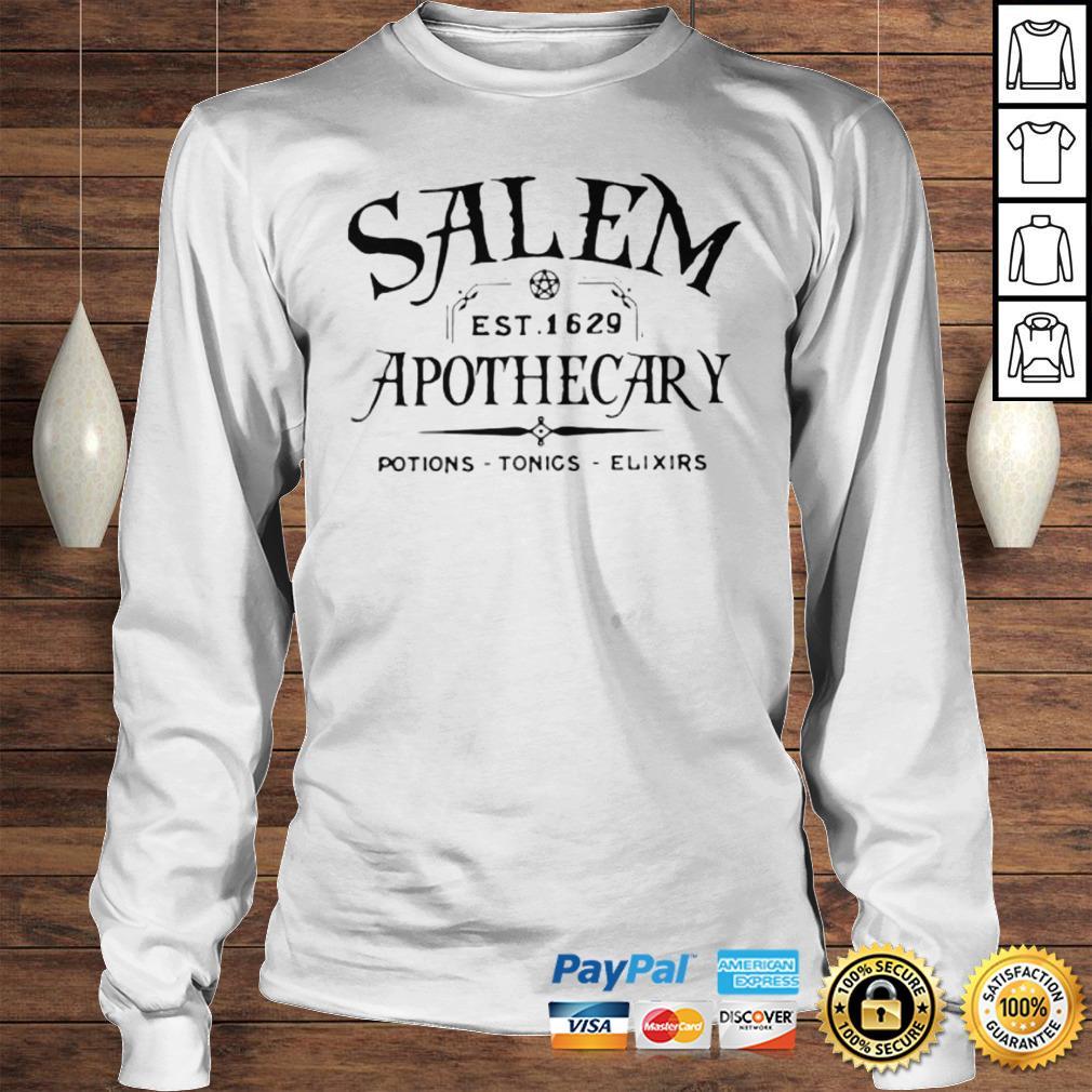 Salem EST 1629 Apothecary Potions Tonics Elixirs Hoodie Longsleeve Tee Unisex