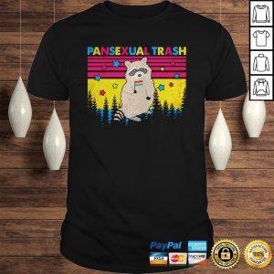 Raccoon pansexual trash vintage retro shirt Shirt