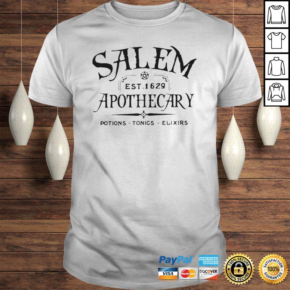Salem EST 1629 Apothecary Potions Tonics Elixirs Hoodie