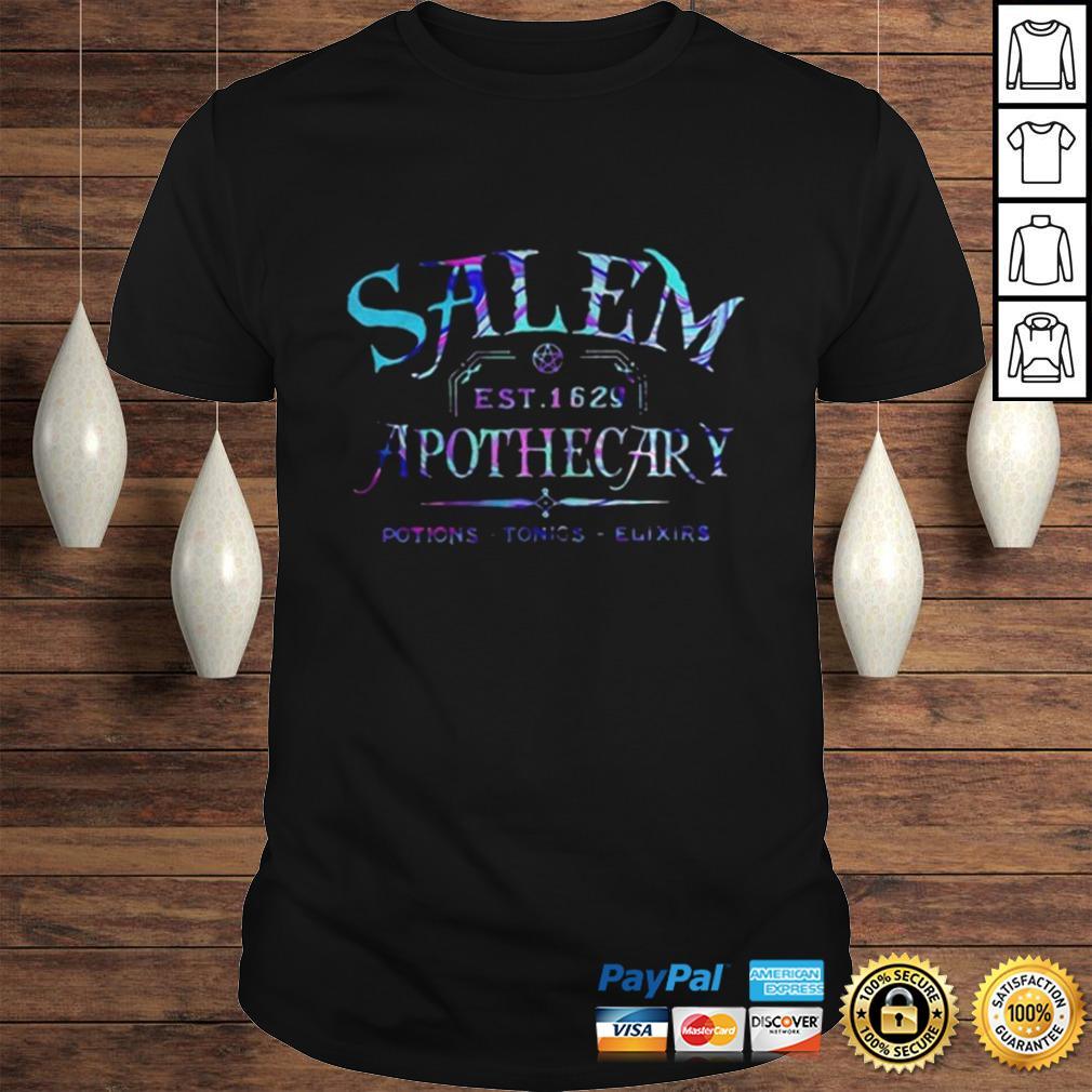 Salem est 1629 apothecary potions tonics elixirs color shirt