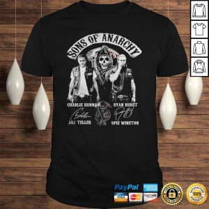 Sons of anarchy characters signatures shirt Shirt