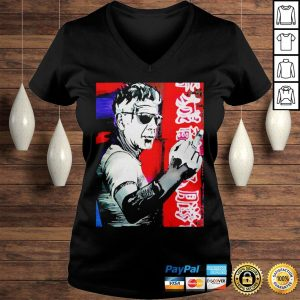 Anthony bourdain fuck middle finger shirt Ladies V-Neck