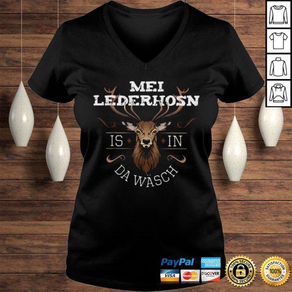 Funny Mei Lederhosen Is In The Wash Shirt Ladies V-Neck