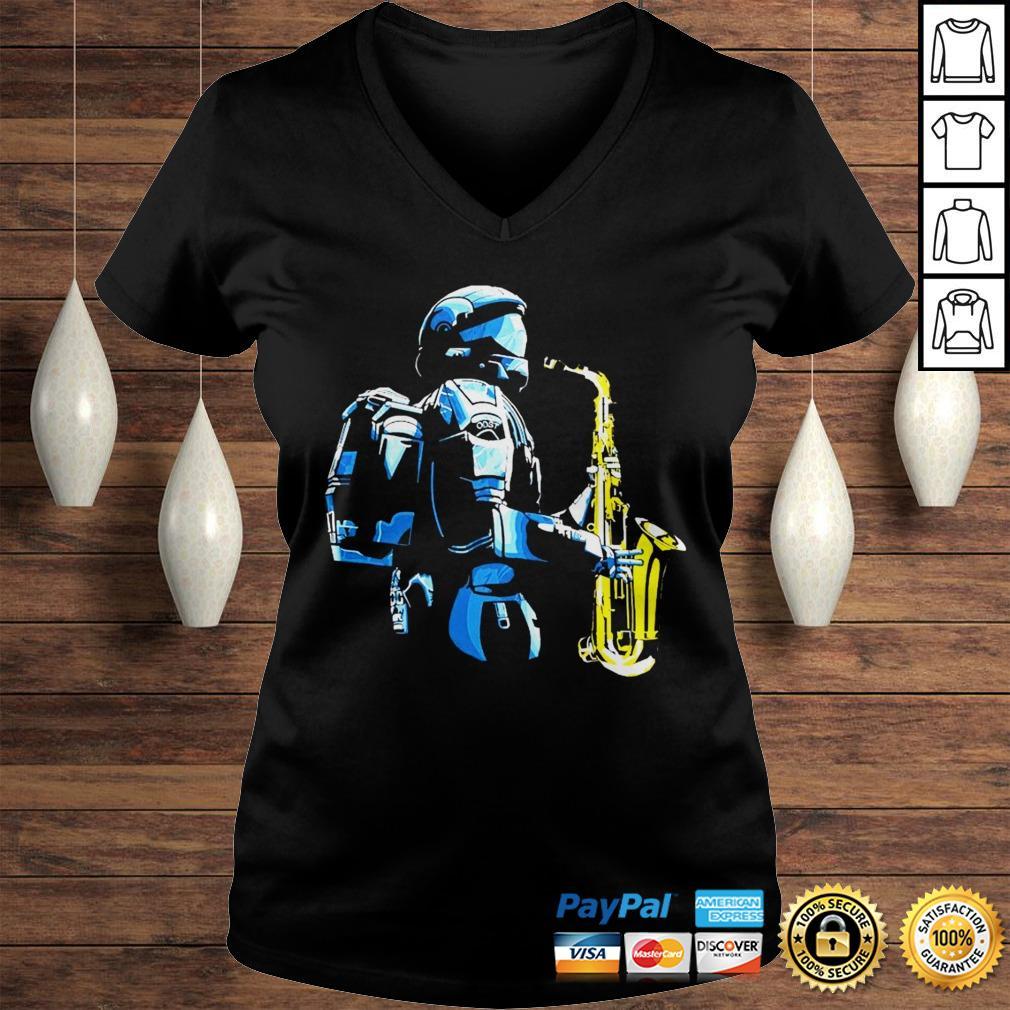 Halo 3 odst saxophone shirt Ladies V-Neck
