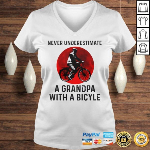 Never Underestimate A Grandma With A Bicycle Shirt