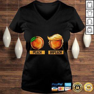 Peach Impeach Trump Shirt Ladies V-Neck