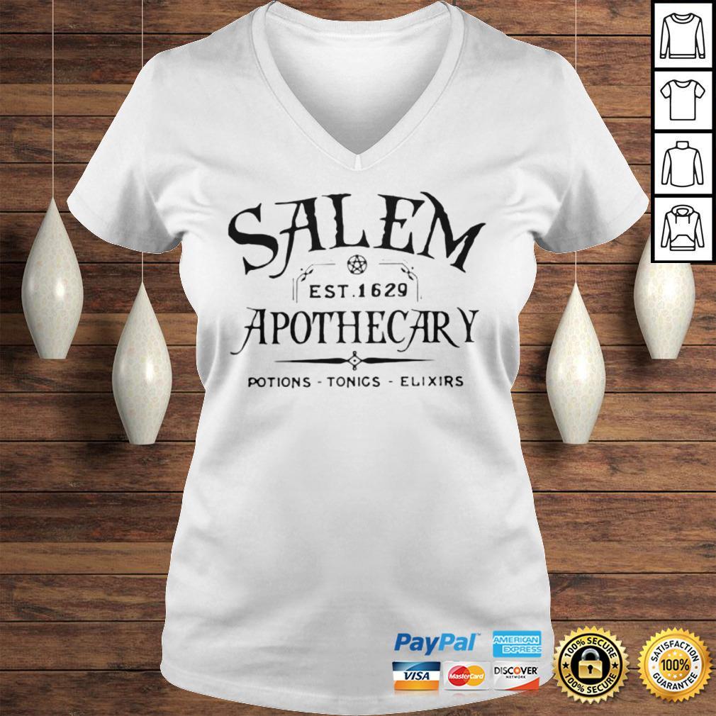 Salem EST 1629 Apothecary Potions Tonics Elixirs Hoodie Ladies V-Neck