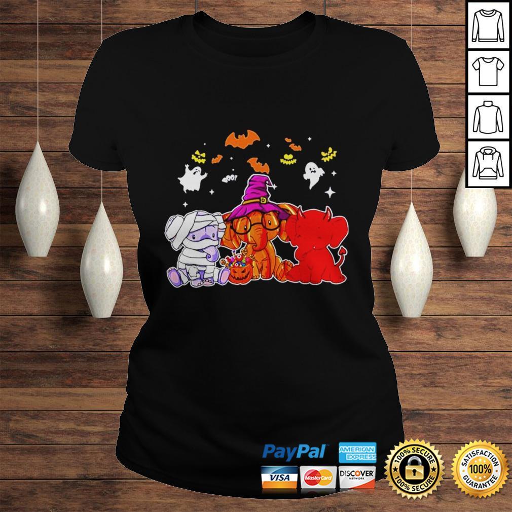 Elephant ghost halloween shirt Classic Ladies Tee