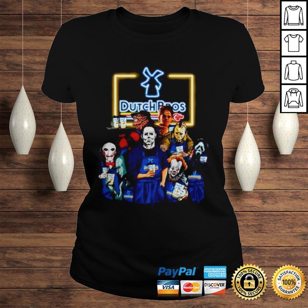Horror movie characters Dutch Bros coffee shirt Classic Ladies Tee