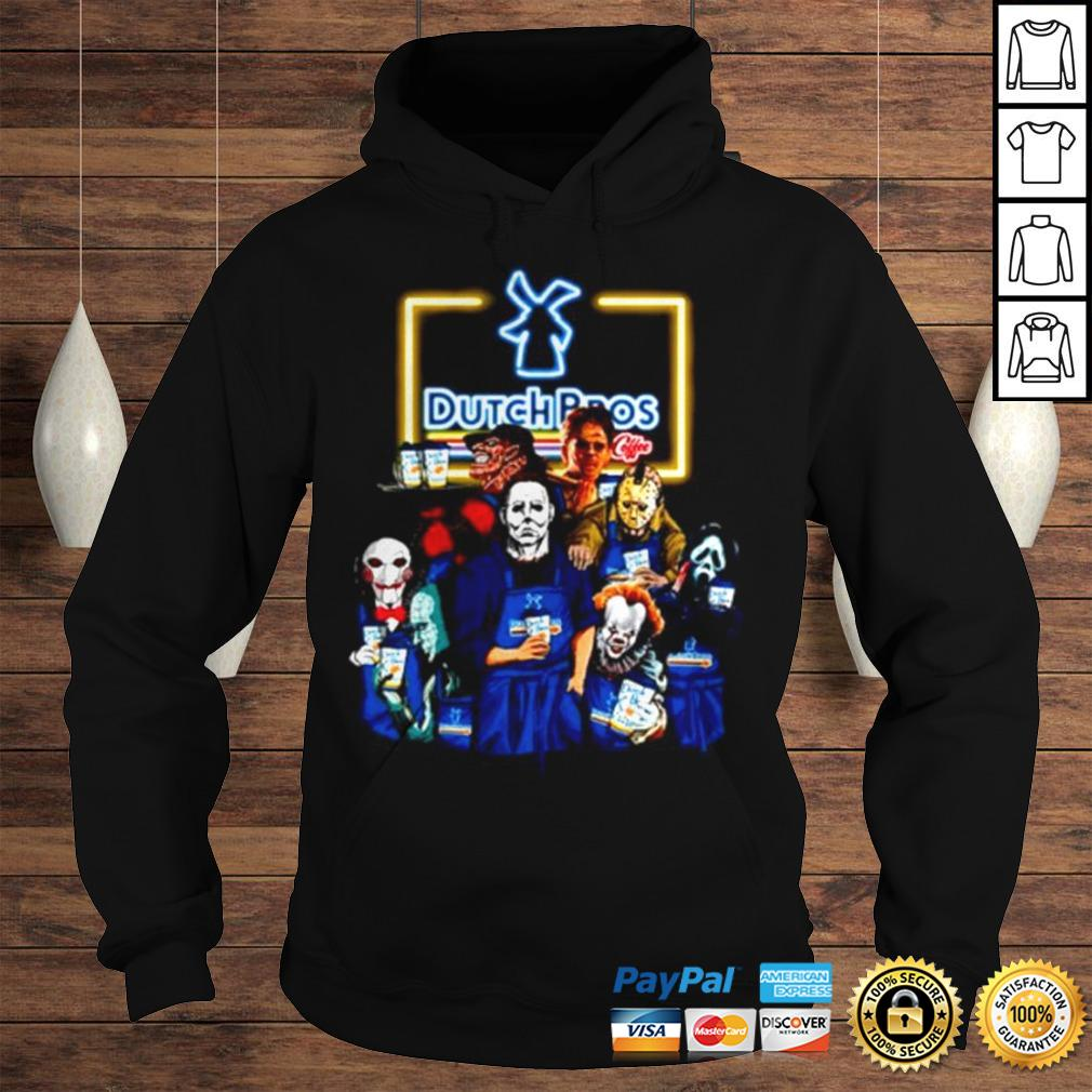 Horror movie characters Dutch Bros coffee shirt Hoodie