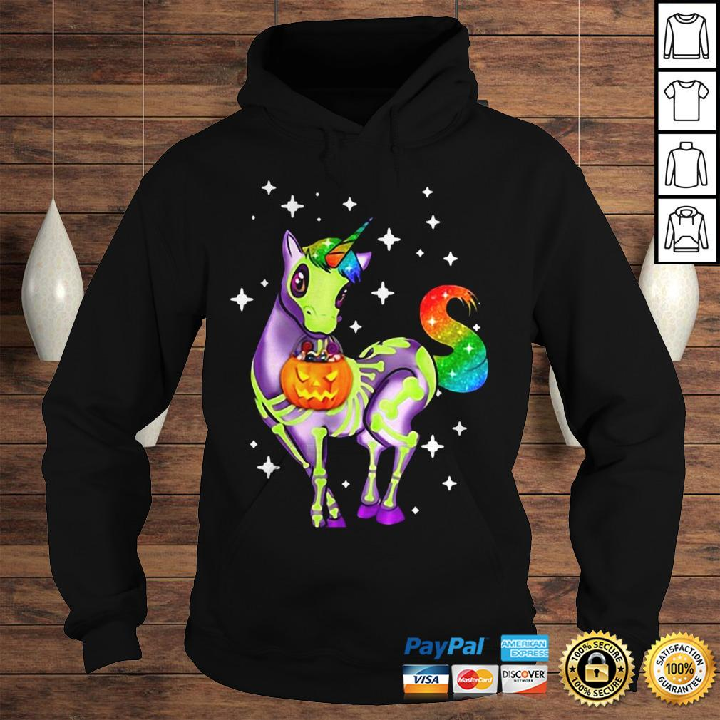 Official Unicorn Skeleton Halloween Pumpkin Hoodie Hoodie