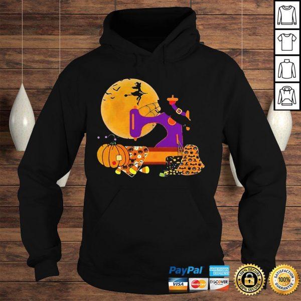 The Sewing Witch Pumpkin Blood Moon Halloween Shirt Hoodie
