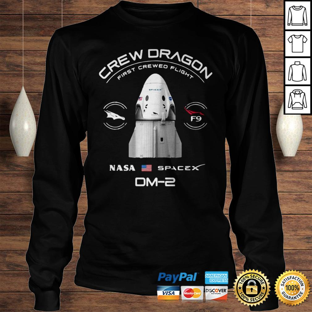 Crew Dragon Nasa Space Dm2 Shirt Longsleeve Tee Unisex