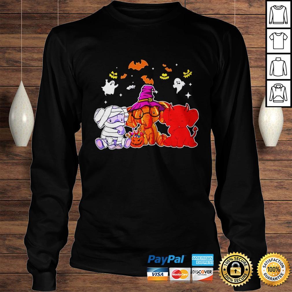 Elephant ghost halloween shirt Longsleeve Tee Unisex