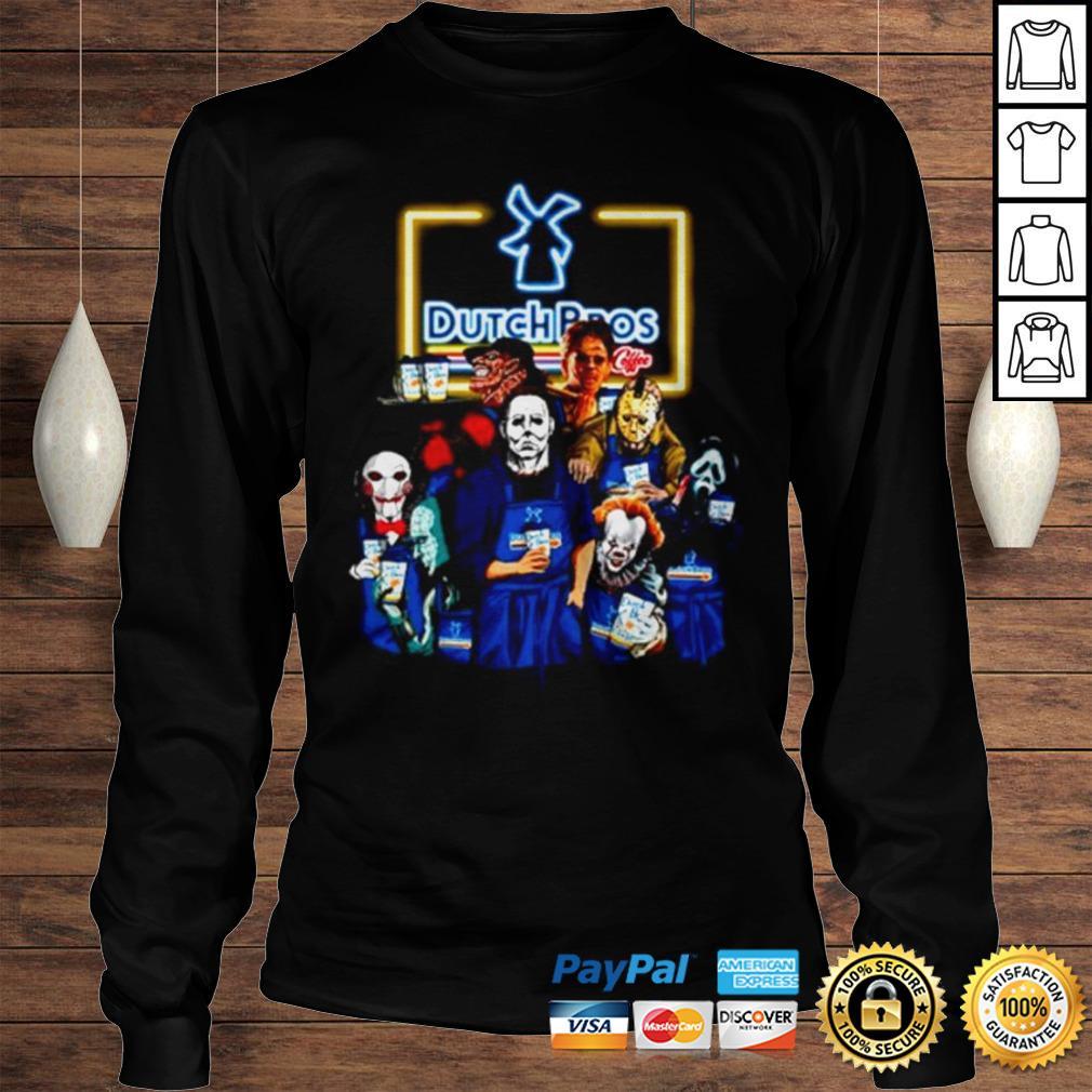 Horror movie characters Dutch Bros coffee shirt Longsleeve Tee Unisex