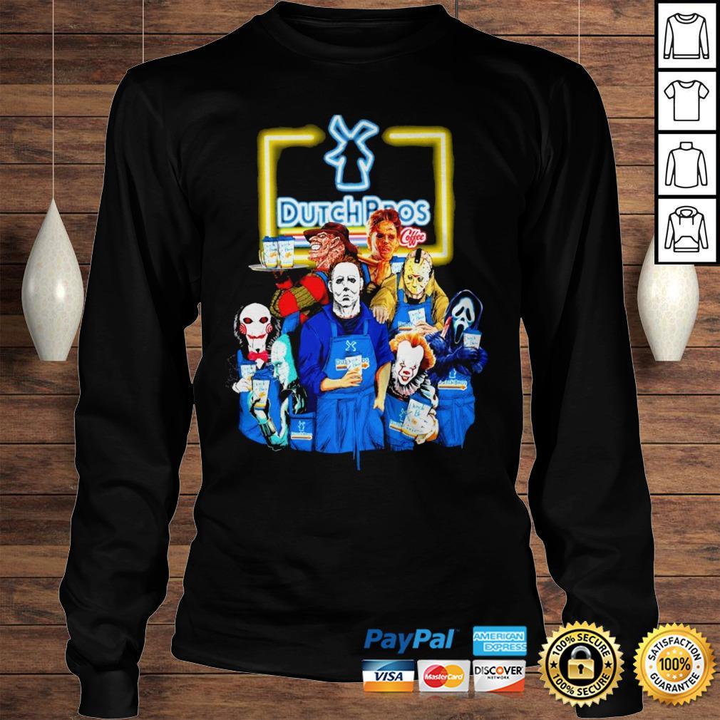 Official Horror Characters halloween Dutch Bros shirt Longsleeve Tee Unisex