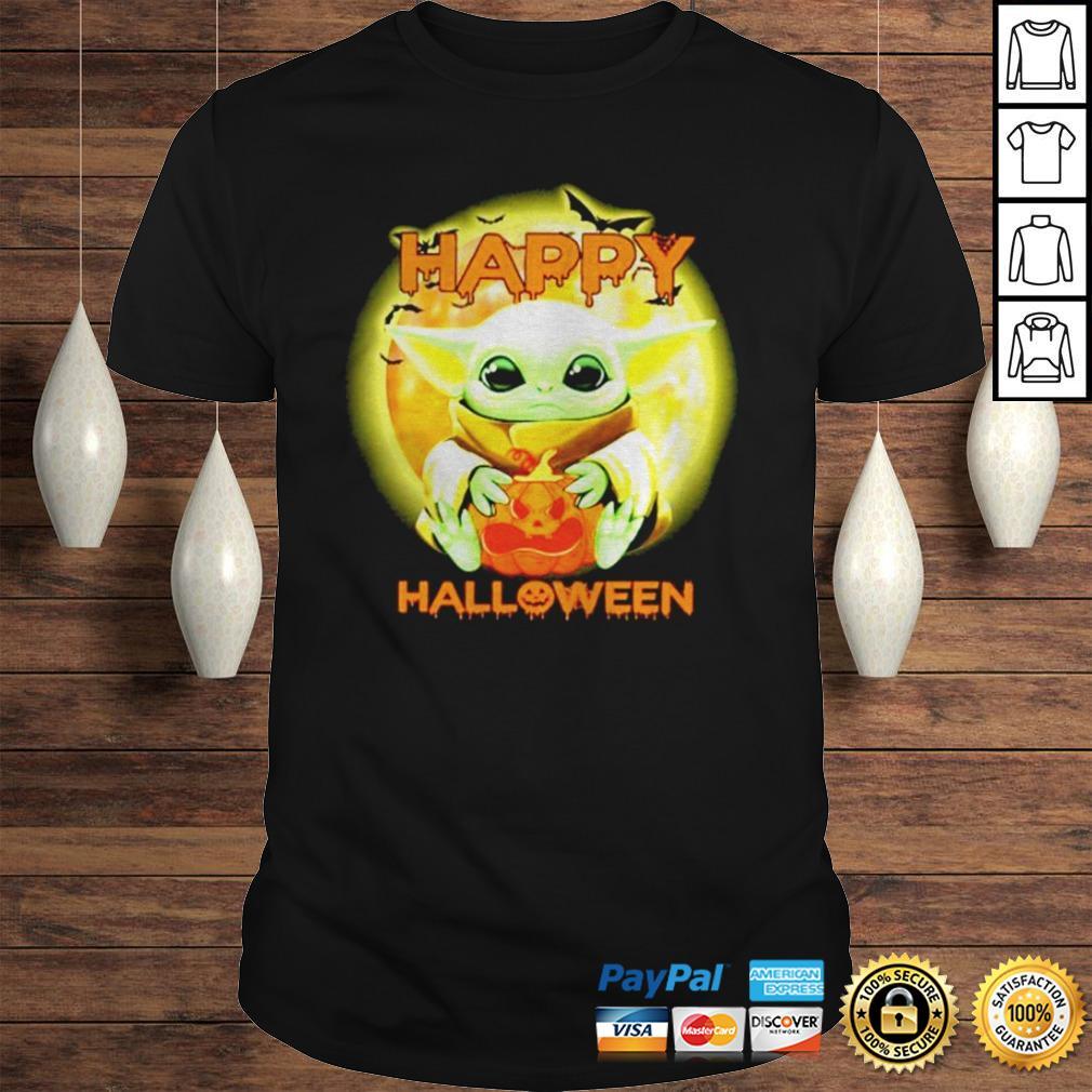 Baby Yoda Happy Halloween Shirt Teegogo Com