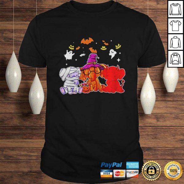Elephant ghost halloween shirt Shirt